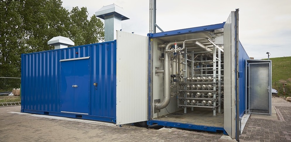 Biogas upgrading system