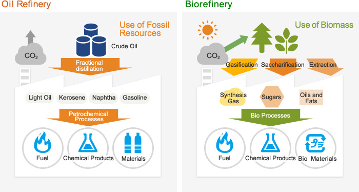 Biorefinery is like an oil refinery