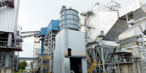 Direct Combustion Biomass Electric Power Plant with View of Combustion